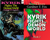 Kyrik fights the demon world gardner f fox sword and sorcery kurt brugel