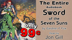 download gardner f fox sword of the seven suns planet stories pulp audio book jon gill kurt brugel