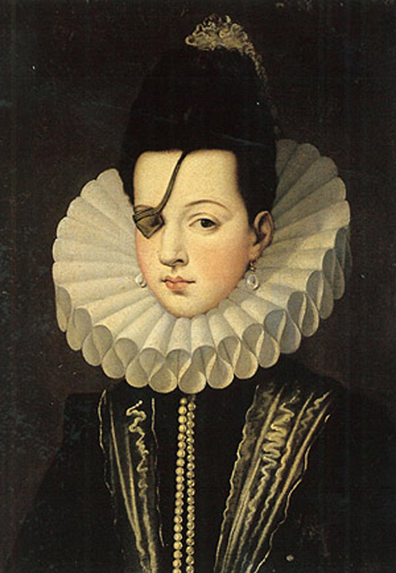 painting by an Unknown painter in the 16th century of Ana de Mendoza, Princess of Eboli in Spain