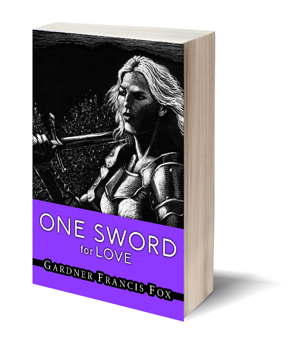 One Sword for Love Gardner F Fox scratchboard cover art Kurt Brugel historical fiction Prester John Christian Crusader Knight