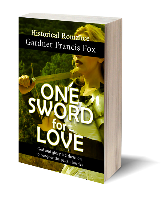 Photoshop One Sword for Love Gardner F Fox scratchboard cover art Kurt Brugel historical fiction Prester John Christian Crusader Knight