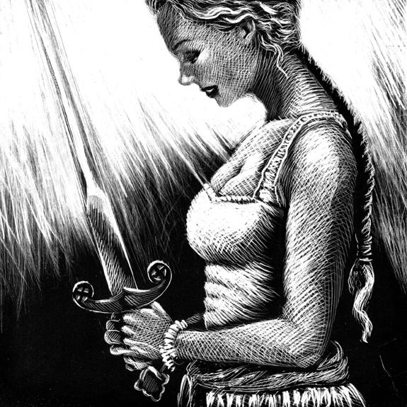 original questing sword jefferson cooper gardner f fox scratchboard cover art kurt brugel historical fiction
