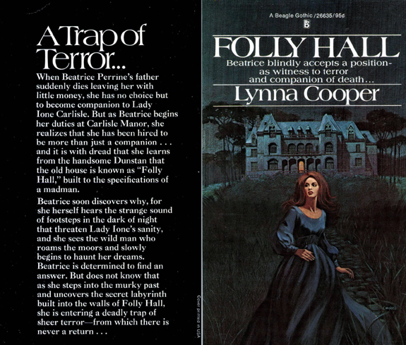 original campbell book cover for lynna cooper folly hall gothic romance novel gardner f fox