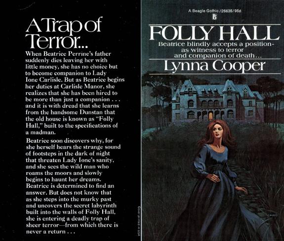 original campbell book cover for lynna cooper folly hall gothic romance novel gardner f fox