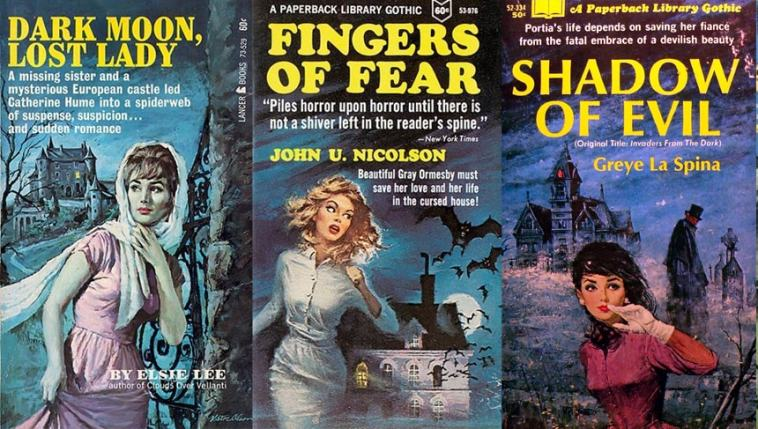 paperback Gothic romance book covers