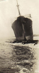 Morro Castle bow after the fire