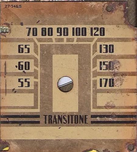 Transitone radio