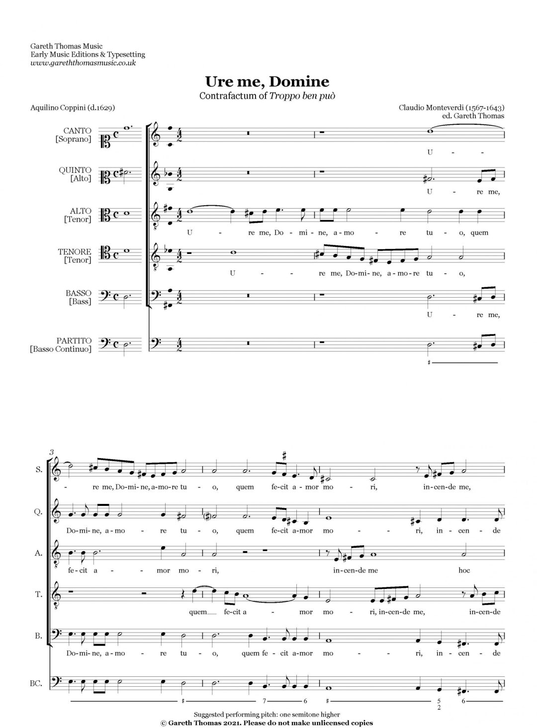 Claudio Monteverdi Ure me, Domine image