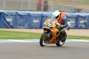 Head Down on the Start Finish Straight Donington Park 2012