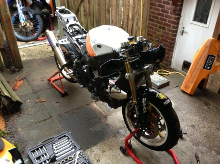 Naked GSXR In Prep for Cadwell