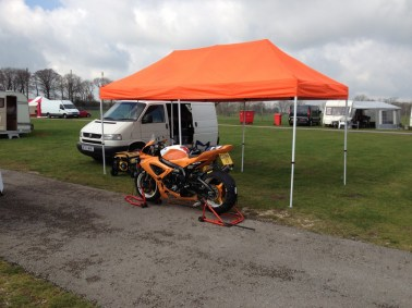 Set Up For Cadwell ACU Test Day