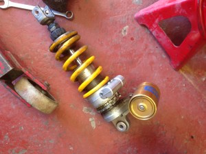 Leaking Ohlins Rear Shock Out