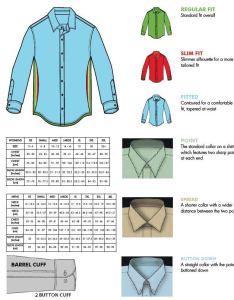 Van heusen and eagle general size chart also izod shirt garffshirts rh