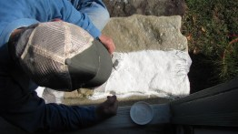 Cheese cloth adds strenght to the latext mold.