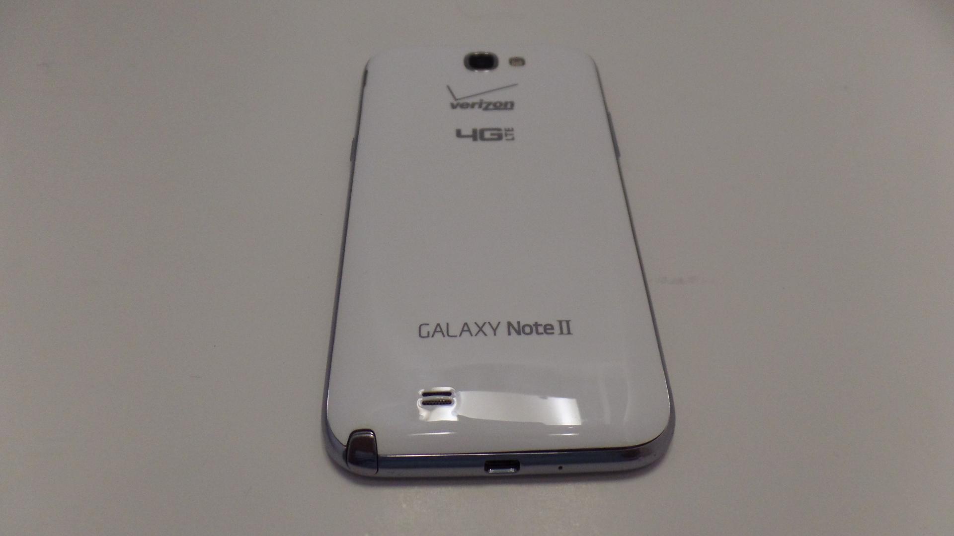 Samsung Galaxy Note II 2 White Verizon Wireless 4G LTE