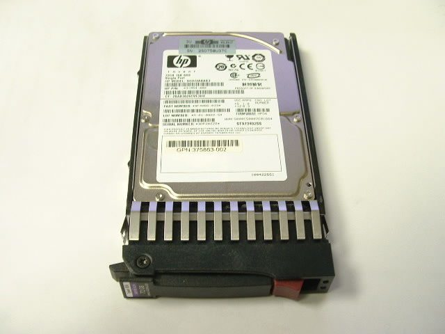 LOT OF 4 36gb 10K 2.5″ HP Single Port SAS Drive w// Tray HP PN 376596-001