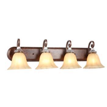 Hampton Bay 4-Light Oxide Brass with Mystique Silver Bath Light HB2079-229