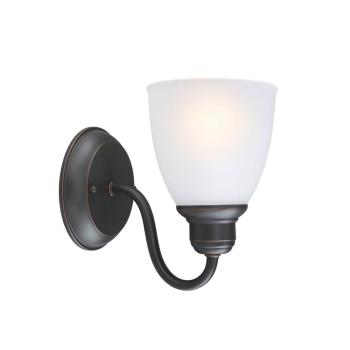 Hampton Bay Woodbridge Collection 1-Light Oil-Rubbed Bronze Sconce EZM1391P-3