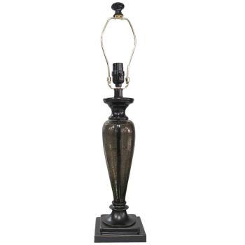 Hampton Bay Mix & Match 27.25″ Bronze Tinted Glass Pillar Table Lamp 15863
