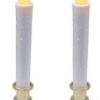*Lot Of 6* Battery Operated Flickering LED Candle with Timer (Set of 2)
