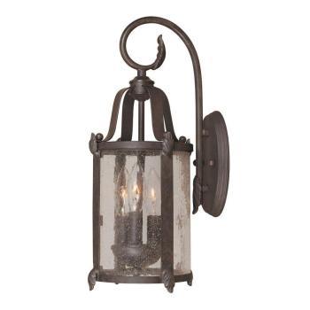 World Imports Old Sturbridge 3-Light Bronze Outdoor Wall Lantern WI169289