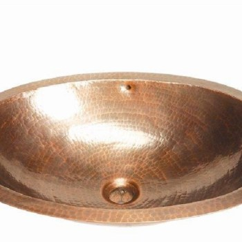 Belle Foret BFC13WC Medium Oval Lavatory Sink in Weathered Copper