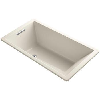 KOHLER Underscore 5.5 ft. Reversible Drain Soaking Tub in Almond K-1136-47