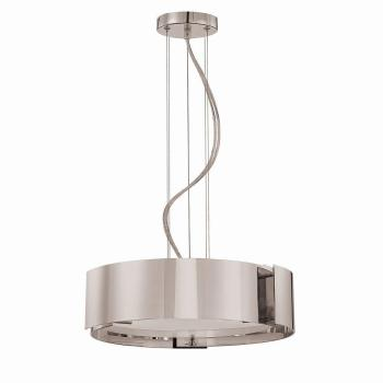 Home Decorators Collection 5-Light Satin Nickel Pendant w Circular Curved Panels