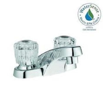 Glacier Bay Aragon Centerset 2-Handle Low-Arc Bathroom Faucet Chrome 67090W-5001