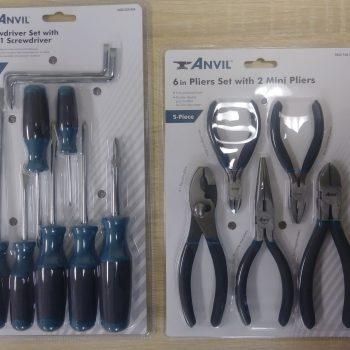 Brand New ANVIL 6in 5pc Pilers Set & Anvil ScrewDriver Set w/ 6-in-1 Screwdriver