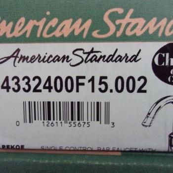 American Standard Pekoe Bar Faucet in Polished Chrome 4332400F15.002