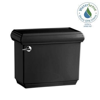 KOHLER Memoirs 1.28 GPF Toilet Tank with AquaPiston Flushing Black K-4433-7