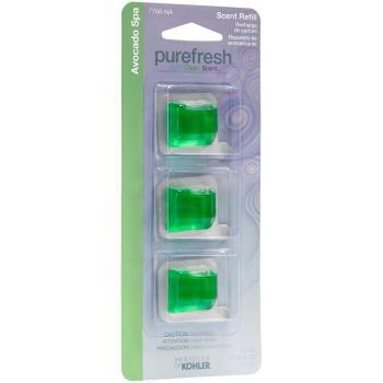 6 Pack Kohler Avocado Spa Refill Scent Pack for Purefresh Toilet Seat K-7766-NA