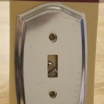 Baldwin Colonial Design Single Toggle Switch Plate Polished Chrome (Lot of 2)