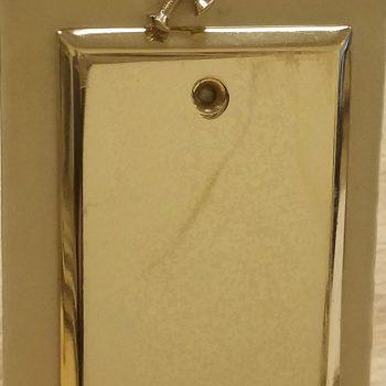 Baldwin Classic Square Beveled Edge Single Box Cover Polished Brass (Lot of 2)