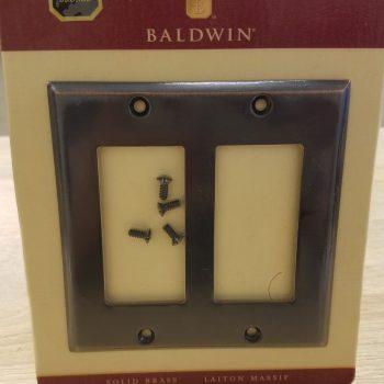 Baldwin Classic Beveled Edge Double GFCI Switch Plate Venetian Bronze (Lot of 2)