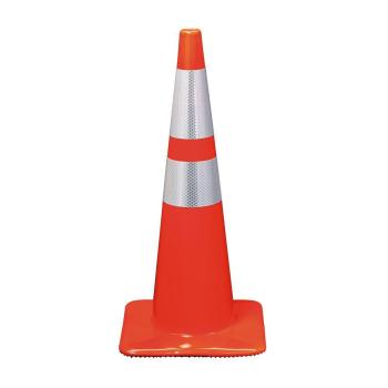 3M 28 in. Orange Reflective Traffic Safety Cone (Case of 6)