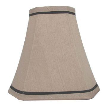 Hampton Bay Mix/Match Espresso Brown Trim Cut Corner Bell Lamp Shade (Lot of 2)