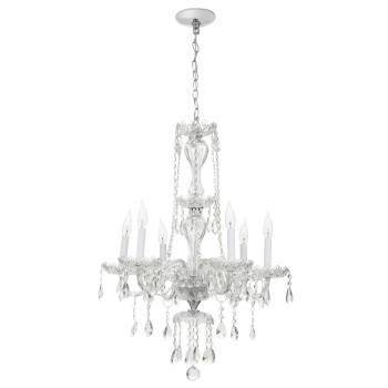 Hampton Bay Lake Point 6-Light Chrome and Clear Crystal Chandelier