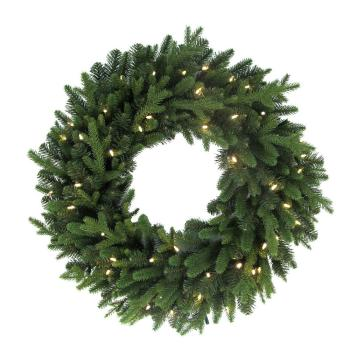 32in Pre-Lit LED Norway Spruce Wreath 1002499831