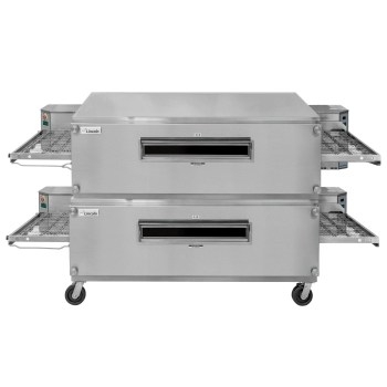 Lincoln 3255-2 NAT GAS Impinger Double Convyeor Oven Package 55″ Baking Chamber