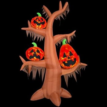 Gemmy Projection Air Blown Scary Tree Kaleidoscope Inflatable