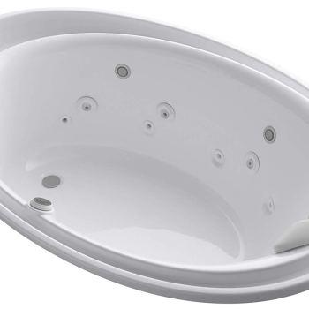Kohler Purist 72″ x 46″ Drop-In Effervescence + Whirlpool in White K-1110-V-0