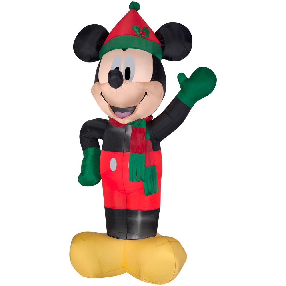 Home Accents 8 ft. Inflatable Lighted Airblown Mickey with Hat and Scarf