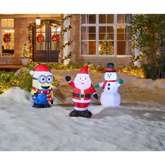 Home Accents Holiday 30.32″ x 17.72″ x 42.13″ Lighted Inflatable Outdoor Santa