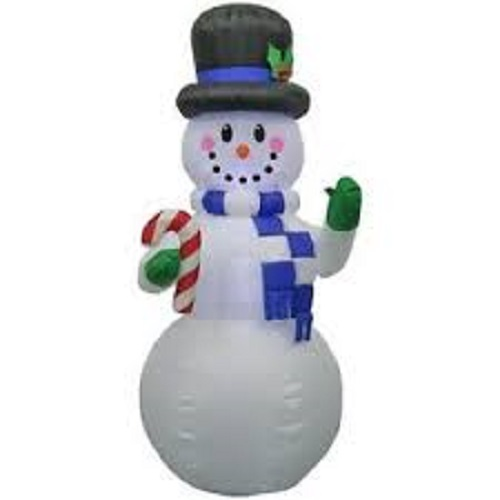 6.5 ft. Snowman with Candy Cane Christmas Inflatable Model 15561