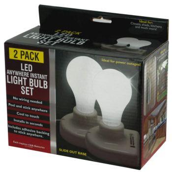2-Pack LED Anywhere Instant Light Bulb Set OL966