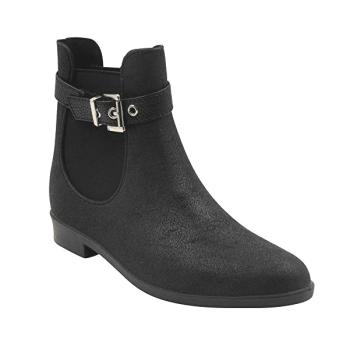 Modern Rush Aubree Women's Ankle High Rain Boots Black/Black Size 6