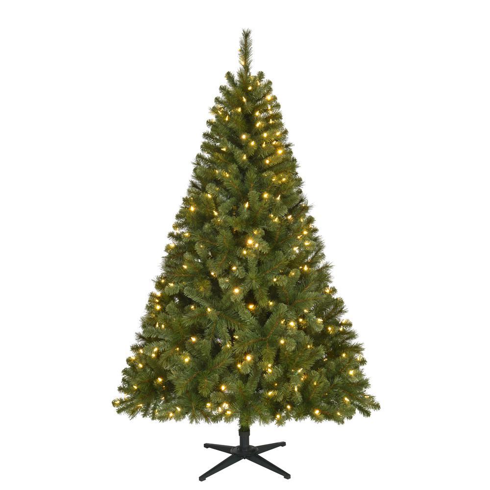 6.5 ft. Pre-Lit LED Wesley Spruce Christmas Tree w/ Color Changing Lights