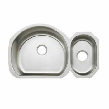 KOHLER K-3099-NA Undertone High/Low Undercounter Kitchen Sink in Stainless Steel